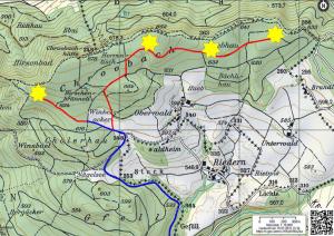 Standort Windräder und Wege