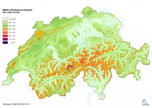 Windkarte Schweiz